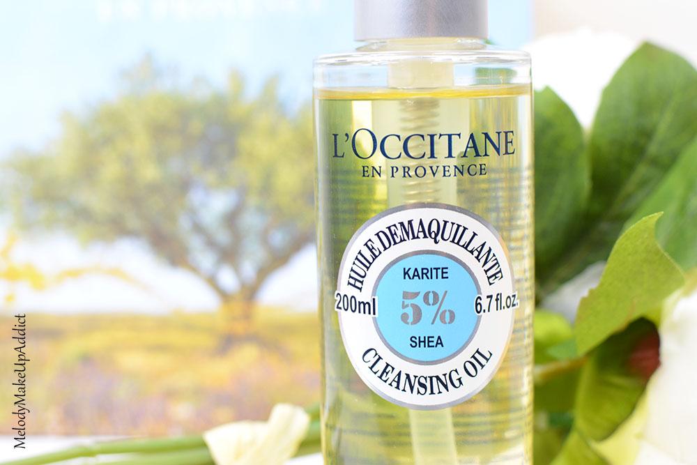 L'huile démaquillante karité de l'Occitane