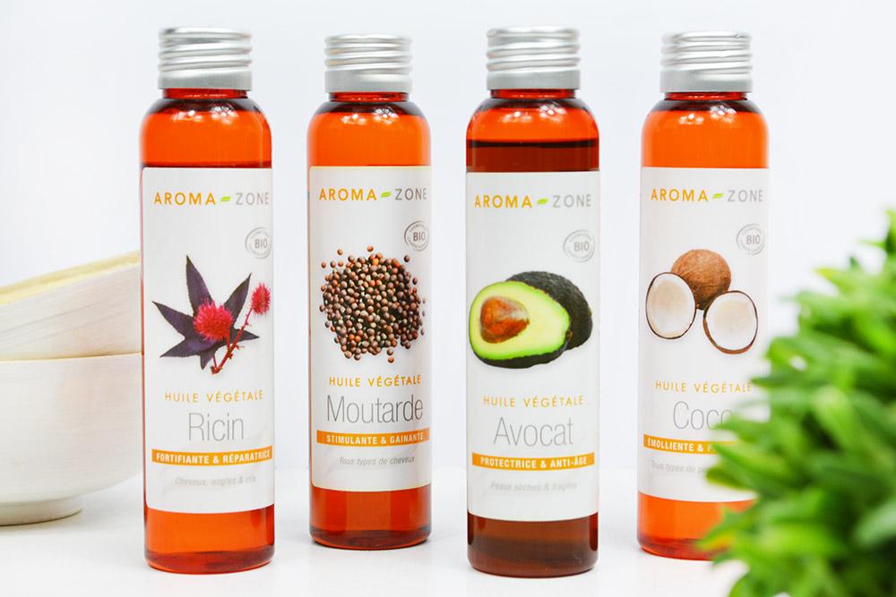 huile vegetale gainante cheveux