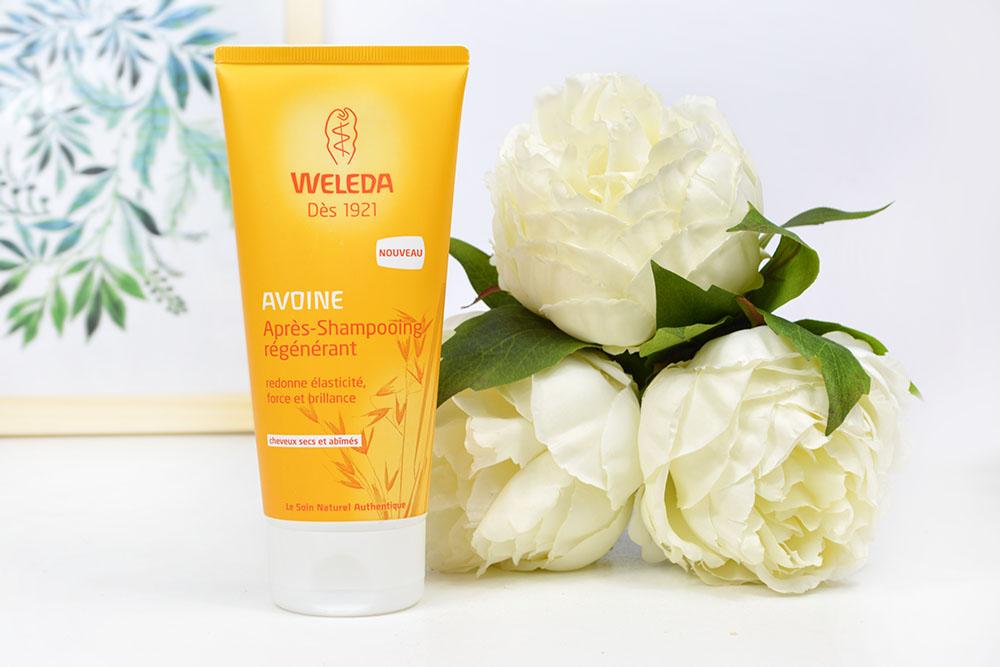 L'après-shampoing régénérant de la marque Weleda