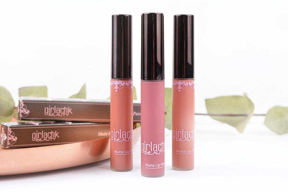 Les Matte Lip Paint de la marque Girlactik Beauty !