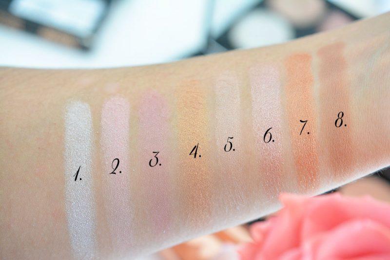 swatchs ultra blush palette makeup revolution