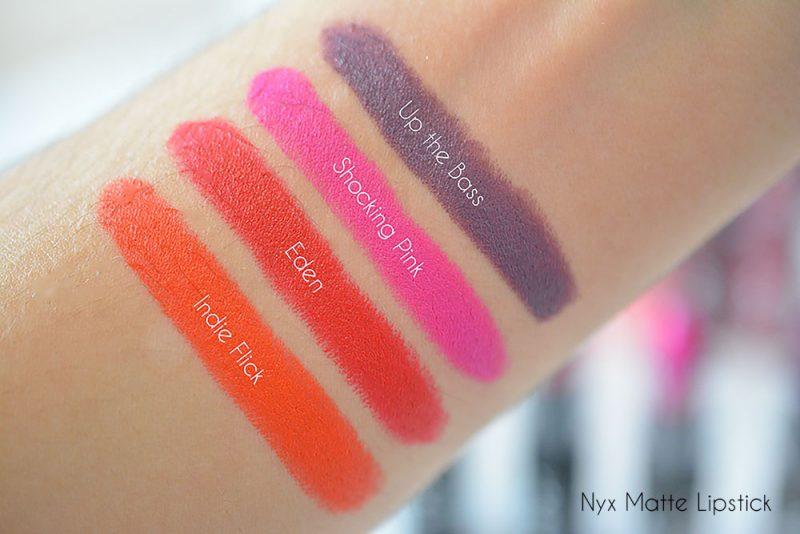 matte lipstick nyx swatch