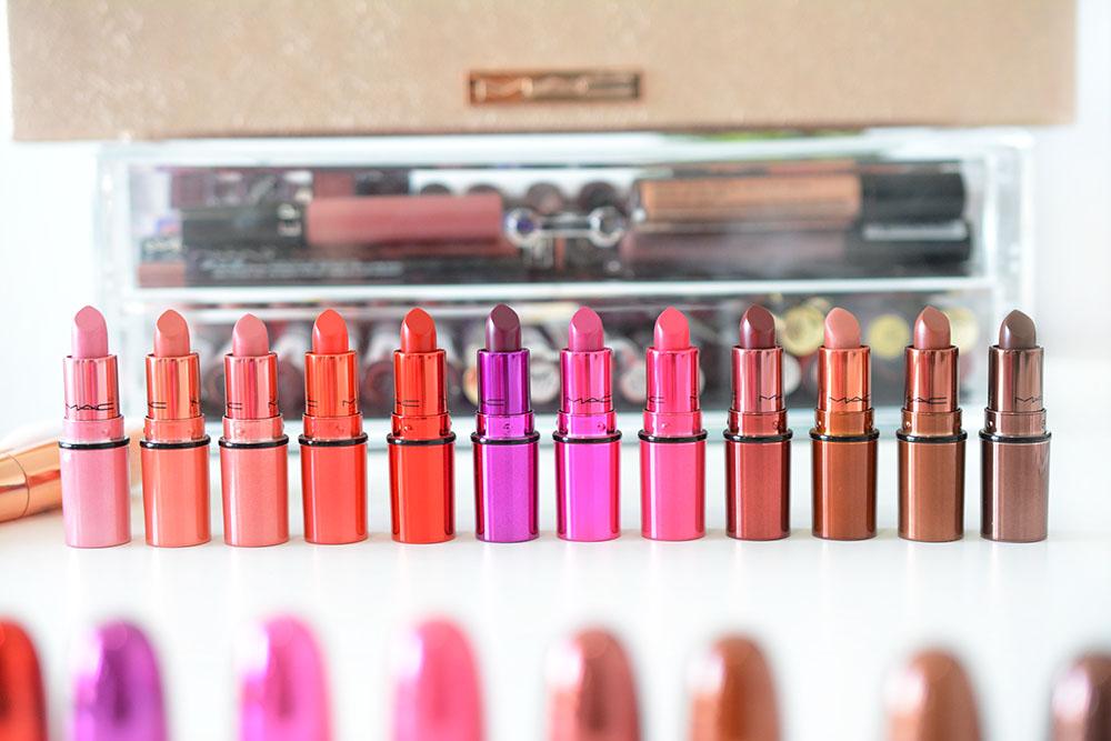 Le magnifique coffret de 12 minis rouges à lèvres Mac : revue et swatches !