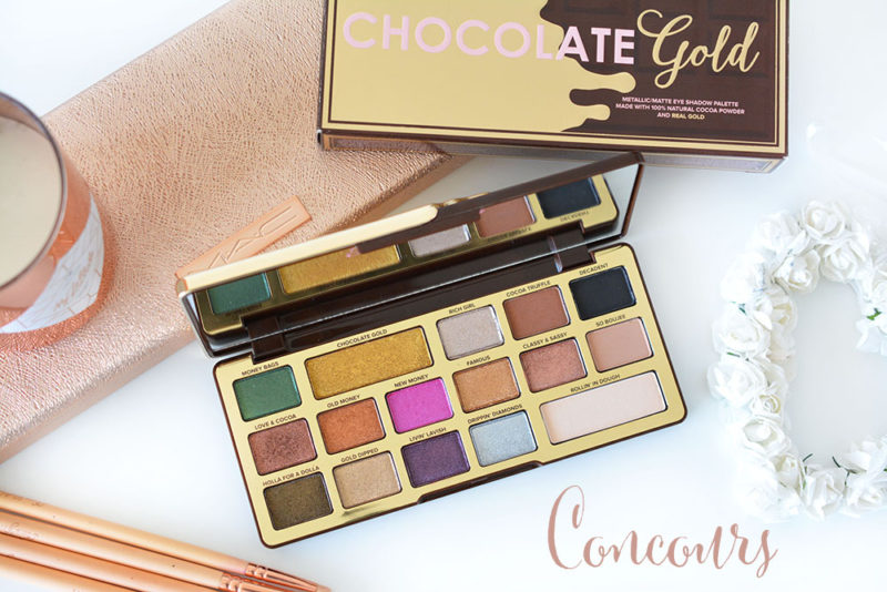 concours chocolate gold too faced